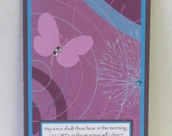 Purple Butterfly Journal, Christian Prayer Journal, OOAK Notepad, Scripture Notebook, Handmade Journal.