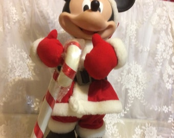 27 inch Tall Animated Mickey Mouse Santa