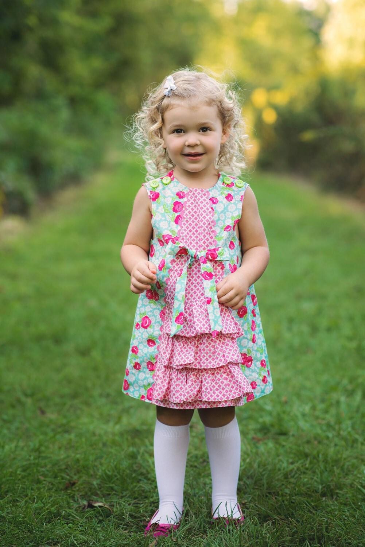 PDF Sewing Pattern: Ruby Ruffle Dress - Size 6 Month through 10 Years
