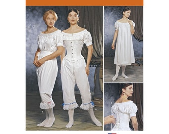 Pick Your Size - Simplicity Historical Costume Pattern 1139 by MARTHA McCAIN - Misses' Chemise, Corset and Drawers - The Fashion Historian