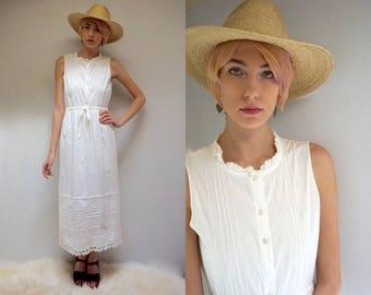 White SunDress  //  White Cotton Dress  //  Cotton Nightgown  //  THE ARAGON