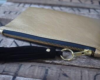 Metallic Gold Clutch, Bridemaids Clutch, Wedding Clutch, Gold Wedding, Gold Clutch, Gold Wallet, Metallic Clutch