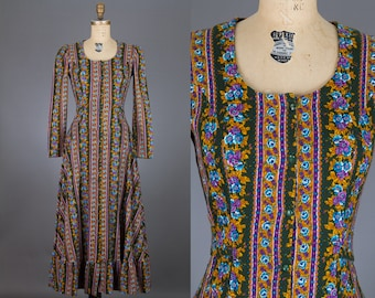 vintage 1960s floral midi dress