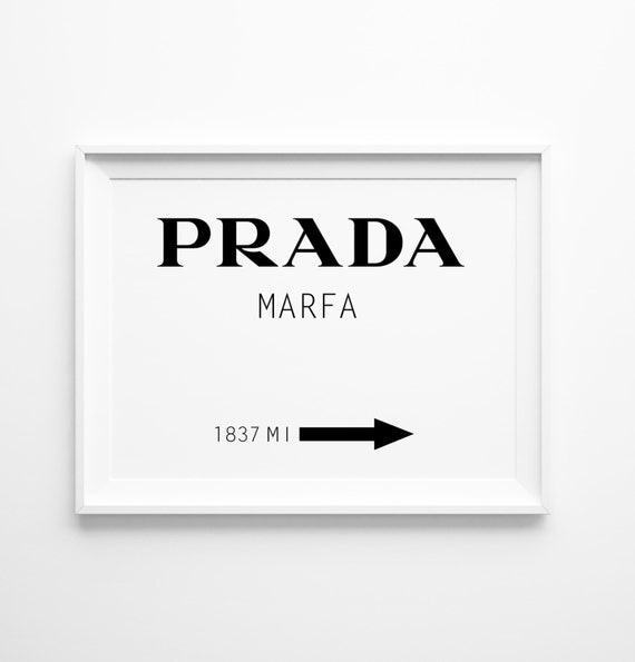 prada marfa print large wall art prada poster oversized. Black Bedroom Furniture Sets. Home Design Ideas