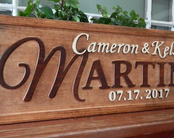Last name sign / Custom Family Name Sign / Personalized name sign / couples last Name Sign /  Rustic Family Sign 3D