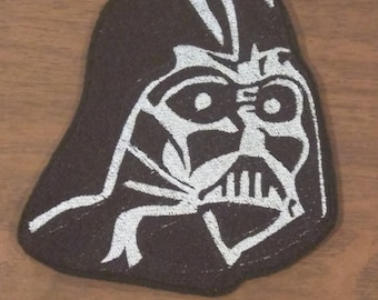 Darth Vader inspired embroidered iron on patch