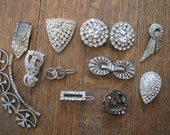 RESERVED for Amelia Vintage Lot of  Rhinestone Jewelry for Destash Harvesting Repair Upcycle Crafts Destash Repurpose