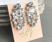 RESERVED- CUSTOM- Rose Gold Crystal Earrings- Swarovski Bridal Earrings