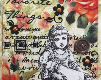 My Favorite Things An AcEo  Mixed Media Victorian Cards  ACEO Alteredhead On Etsy Artwork ATC Original Handmade Design On Etsy Artwork