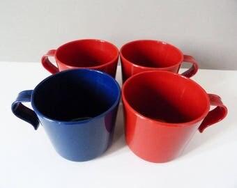 1970's Sarvis Oy Kaj franck plastic mugs.