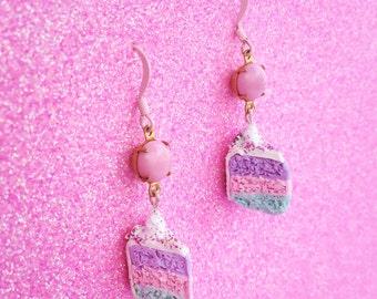 Scented Unicorn Cake Earrings