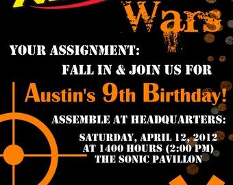 Nerf Dart Digital Birthday Invitation