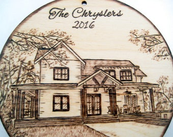 Custom House Warming Gift, House ornament, Christmas ornament, New Home, Housewarming Gift, New House Gift, New Homeowner, Real Estate gift