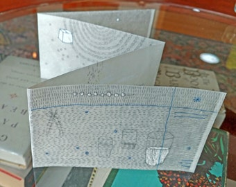 Tiny Accordion Fold Book with Beeswax / The Journey