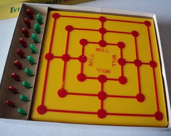 Vintage The Mill Game by Schaper, With Cootie Ad