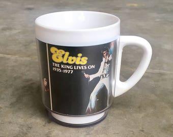 Vintage Elvis Plastic Mug - 1977