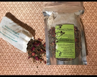 Bath Tea Soak - Herbal Bath Soak - Therapeutic - Relaxing - Organic - Healing - Bridal Gift - Mothers Day - Loose tea bath soak - For Her