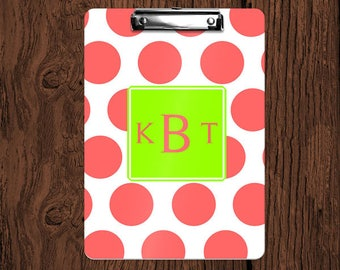 Design Your Own Personalized Monogrammed 2-Sided Dry Erase Clipboard - Great Teacher, Coach, Office Gift!