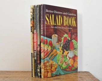 Vintage Better Homes and Gardens Cook Book Lot Set of 4 Cookbooks Bread Salad Fruit Holiday
