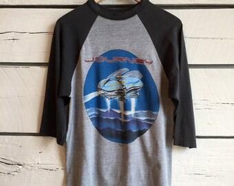 Vintage 1980s JOURNEY tour concert shirt • vintage band t-shirt • concert tee