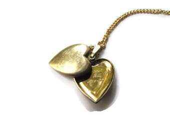 "SALE-Vintage Locket ""Love Bill 1977"""