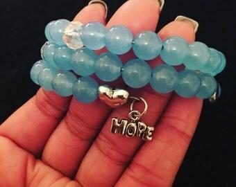Hope Over Fear Wrap Bracelet