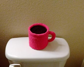 Crochet Coffee Mug Toilet Tissue Covers for Your Bathroom