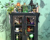 Layaway available dollhouse miniature witch wizard cabinet with sorting hat