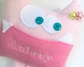 Tooth Fairy Pillow - Monster Plush - Personalized Tooth Fairy Pillow - Tooth Chart - Funny Kids Toy - Kids Birthday Gift - monogrammed