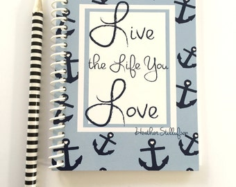 Mini Pocket Notebooks - Live the Life YOU Love - Anchor Gifts  -Gift Ideas - Notebooks - Gifts for Women Teachers -