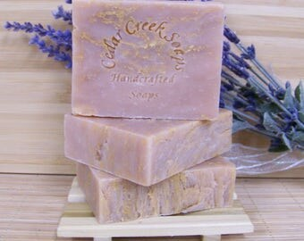 Magnolia Peach Cold Processed Soap Vegan Magnolia Soap