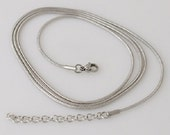 Stainless steel snake chain available in 3 different lengths. Add a snap pendant plus a snap charm. Will fit Ginger Snaps pendants.