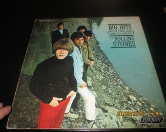 Rolling Stones vinyl- Big Hits (High Tides and Green Grass) - Lp in VG++  Condition