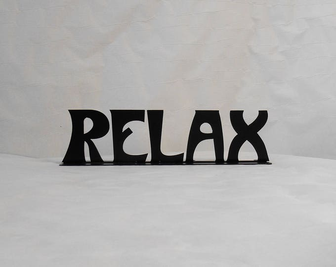 Relax Metal Sign Shelf Decoration