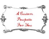 R E S E R V E D for Erika - Custom Miniature White Wolf Poupette