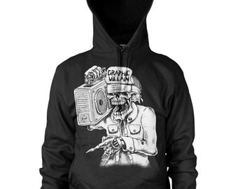 Graphic Villain suicidal boombox logo hoodie  - Free Shipping!