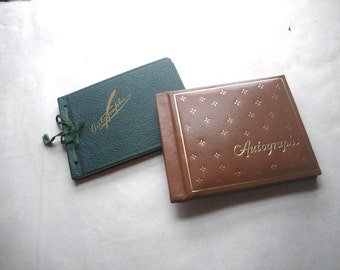 Three 1930s 1960s School Autograph Books Bronx NY and Maine