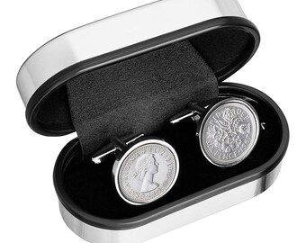 English Sixpence Cufflinks - Choose the year on the Sixpence Coin - 100% satisfaction