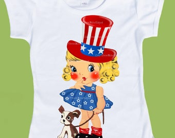 Fourth of July, Princess, Red White Blue, Girls shirt, Patriotic t-shirt, girls clothes, Independence day tee, 4th of july. ChiTownBoutique