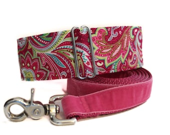 Martingale Collar and Leash, 2 Inch Martingale Collar, Paisley Martingale Collar, Paisley Dog Collar, Sighthound Collar