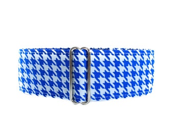 1.5 Inch Martingale Collar, Houndstooth Martingale Collar, Houndstooth Dog Collar, Martingale Dog Collar, Greyhound Martingale Collar