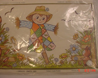 Vintage Carousel Crafts Mr. Patches Scarecrow Decals   17 - 6