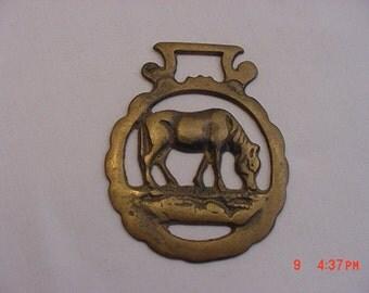 Vintage Brass Horse Harness Decoration Grazing Horse  17 - 302