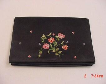 Vintage Denise Francelle Paris France Embroidered Evening Clutch  17 - 411