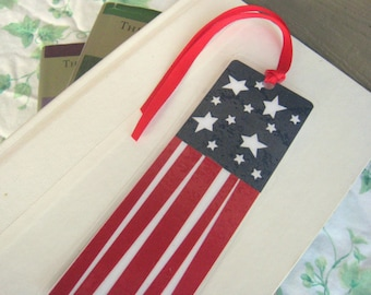 "American Flag Bookmark ""Funky Flag"" Laminated Bookmark"