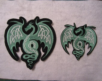 Embroidered Flying Dragon, Winged Dragon, Iron On Dragon Patch, Iron On Dragon Applique, Iron On Patch, Dragon