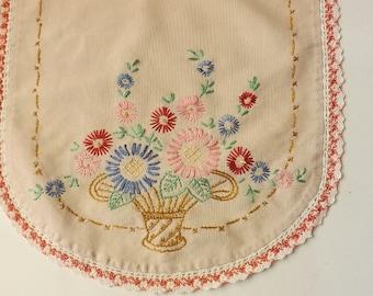 Vintage Hand Embroidered Vanity Set (3 piece)