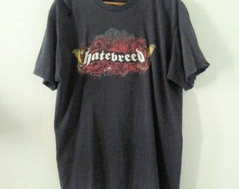 Hatebreed TShirt / Band Tee / Graphic / Worn In / Faded / Grungy / Distressed / Indie / Grunge / Rocker / Heavy Metal / Unisex / Women / Men