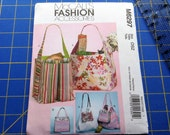 Tote, Purse Sewing Pattern, Uncut, Brand New, McCall's Fashion Accessories, Sewing Instructions, Picnic Totes, Handled Fabric Purse Patterns
