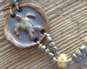 Sea Turtle Ceramic Beach Bracelet